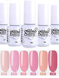 economico -smalto 6 pz colore 133-138 xyp soak-off uv / led smalto per unghie colori solidi per unghie lacca set