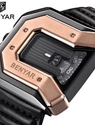 Недорогие -AIBI Муж. Спортивные часы Кварцевый Спортивные Натуральная кожа Черный / Красный / Оранжевый 30 m Защита от влаги Повседневные часы Аналоговый На каждый день -  / Один год