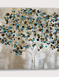 Недорогие -С картинкой Отпечатки на холсте - Абстракция ботанический Modern Репродукции