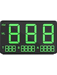 Недорогие -ziqiao czzj c80 gm hps hud дисплей скорости автомобиля км / ч mph head up display лобовое стекло цифровой проектор скорости автомобиля