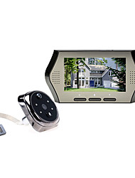 Недорогие -интеллектуальный электронный кошачий глаз дверной звонок 4,3-дюймовый домашний противоугонный противоударный монитор фотоаппарат видео датчик движения