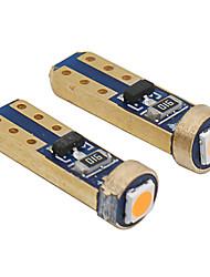 Недорогие -10 шт. T5 светодиодный w3w w1.2w интерьер автомобиля 1 smd dc 12 В супер яркий 3030 светодиодный индикатор приборной панели автомобиля потепления авто инструмент лампа