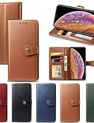 billige -Etui Til Apple iPhone XS / iPhone XR / iPhone XS Max Lommebok / Kortholder / Støtsikker Heldekkende etui Ensfarget Hard PU Leather