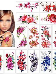 Недорогие -12 pcs Временные татуировки Защита от влаги / Лучшее качество Лицо / плечо / назад Временные тату