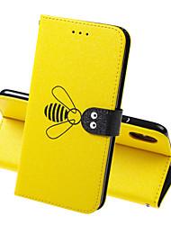 Недорогие -чехол для яблока iphone xr iphone xs max чехол для телефона искусственная кожа материал пчелиный узор сплошной цвет чехол для телефона iphone xs x 7 8 7 плюс 8 плюс 6 6s 6 плюс 6 s плюс 5 5 с