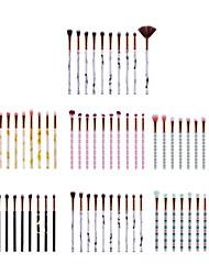 Недорогие -профессиональный Кисти для макияжа 10 шт. Мягкость Новый дизайн Закрытая чашечка Милый удобный Пластик за Набор макияжа Инструменты для макияжа Кисти для макияжа Косметическая кисточка Кисть для теней