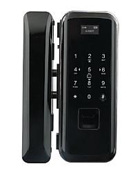 Недорогие -Открытие офиса компании двойная дверь двухтактная подставка из стекла контроля доступа отпечатков пальцев пароль замок приложение смарт-замок