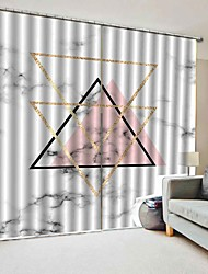 Недорогие -современный простой дизайн оконные шторы декоративные шторы затемнение 100% полиэстер ткань спальня / гостиная / гостиница