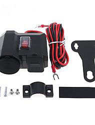 Недорогие -3 в 1 двойной USB-адаптер водонепроницаемый мотоцикл зарядное устройство поддержки установки прикуривателя с кнопкой выключателя