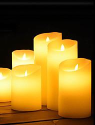 Недорогие -1шт Ночные светильники / Декоративное освещение / Беспламенные свечи Тёплый белый Аккумуляторы AA Милый / Атмосферная лампа / Романтический подарок <5 V
