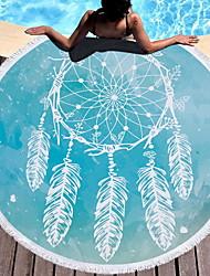 Недорогие -Высшее качество Пляжное полотенце, Живопись Хлопко-льняная смешанная ткань Ванная комната 1 pcs