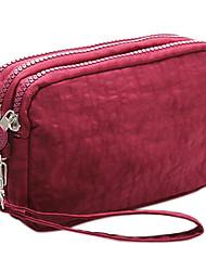 Недорогие -Жен. Молнии Нейлон Мобильный телефон сумка Сплошной цвет Арбузно-красный / Винный / Розовый