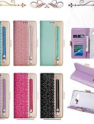 Недорогие -Кейс для Назначение SSamsung Galaxy S9 / S9 Plus / S8 Plus Кошелек / Бумажник для карт / Защита от удара Чехол Полосы / волосы Твердый Кожа PU