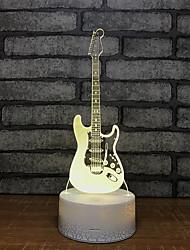 Недорогие -гитара фонтан свет ночь семь цветов сенсорная лампа 3d визуальный творческий маленький подарок 3d светильники цельные