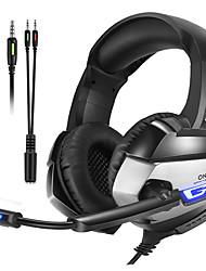 Недорогие -Onikuma K5 игровая гарнитура Deep Bass стерео игровые наушники ПК PS4 ноутбук с микрофоном микрофон