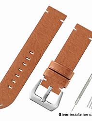 Недорогие -Настоящая кожа / Шерсть теленка Ремешок для часов Ремень для Черный / Красный / Коричневый Прочее 2.2cm / 0.9 дюймы / 2.4cm / 0.94 дюймы