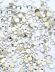 Недорогие -1200 шт. / Упак. Сделай сам алмазная резка кристалл искусства ногтя 3d плоские ноготь стразы украшения для ногтей 15 цветов