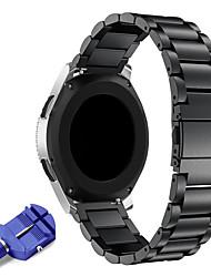 Недорогие -22мм нержавеющая сталь ремешок для часов замена металлический ремешок для шестерни s3 classic / frontier smart / samsung galaxy watch 46мм / ticwatch pro / ticwatch s2 e2