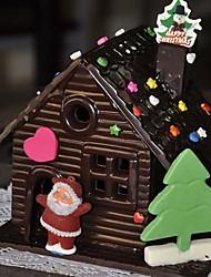 Недорогие -3D шоколадный дом формы торт печенье печенье формы для рождественского фестиваля кухонные инструменты