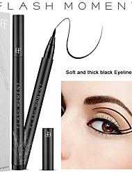 abordables -moda cabeza de algodón 3d delineador de ojos acuoso negro líquido duradero impermeable delineador de ojos de secado rápido