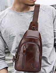 Недорогие -(bullcaptain) мужская кожа одно плечо через плечо бюст верхний слой кожи мода многофункциональный спортивный досуг сумка