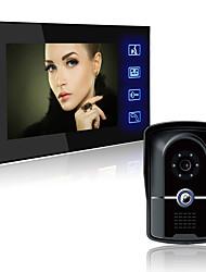Недорогие -LITBest 806FG11 Проводное Встроенный из спикера 7 дюймовый Гарнитура 800*480 пиксель Один к одному видео домофона