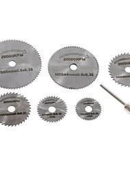 Недорогие -7шт мини дисковые пилы для электрического шлифовального станка роторный инструмент