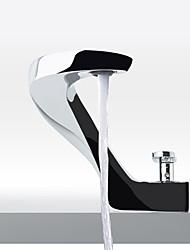 Недорогие -Ванная раковина кран - Широко распространенный Матовый / Электропокрытие Свободно стоящий Одной ручкой одно отверстиеBath Taps