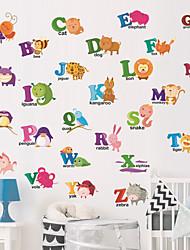 Недорогие -Creative diy животных английский алфавит стикер стены для детских комнат гостиная детский сад спальня стикер декоративные наклейки на стену - наклейки на стену плоскости детская комната / детская