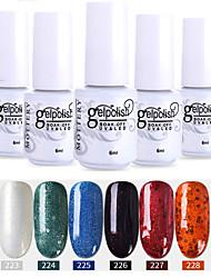 economico -smalto per unghie 6 pezzi colore 223-228 xyp soak-off uv / led smalto per unghie colore solido smalto per unghie set