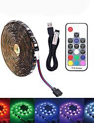 Недорогие -светодиодная подсветка телевизора 5м 150 usb светодиодная лента ip65 водонепроницаемый rf 17 клавиш пульт дистанционного управления 16 цветов RGB изменить для 40 до 60 дюймов подсветка телевизора
