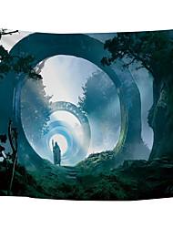 Недорогие -Сад / Цветы Декор стены Полиэстер Средиземноморье / Modern Предметы искусства, Стена Гобелены Украшение