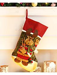 Недорогие -Рождественский декор Игрушки Носки Куски Рождество Подарок