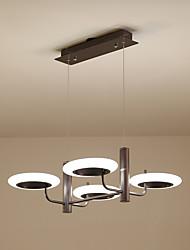 Недорогие -светодиодные островные люстры 4 светильника подвесные светильники регулируемые по высоте потолочные светильники рассеянный свет окрашенная отделка металл