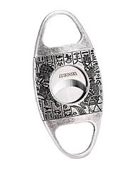 Недорогие -Lubinski сигарный нож из нержавеющей стали с двойным лезвием гильотинные ножницы карманный размер дымовой нож изысканные гравюры, упакованные с хорошей подарочной коробке