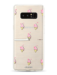 billige -Etui Til Samsung Galaxy S9 / S9 Plus / S8 Plus Støvsikker / Ultratyndt / Gennemsigtig Bagcover Mad / Tegneserie TPU