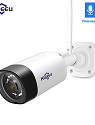 Недорогие -Hiseeu HD 1080 P 2-мегапиксельная беспроводная наружная камера безопасности всепогодная 2-мегапиксельная пуля ip wi-fi уличная камера для системы видеонаблюдения hiseeu