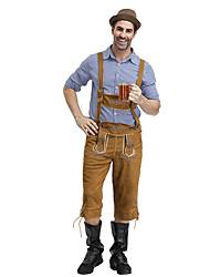 billige -Halloween Karneval Oktoberfest Herre bayerske Jord Gul Bluse Bukser Hat