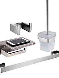 Недорогие -держатель для туалетной щетки / держатель для туалетной бумаги / набор аксессуаров для ванной комнаты креативный / новый дизайн классический / современный из нержавеющей стали / из железа / из металла
