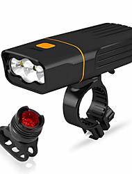 Недорогие -Светодиодная лампа Велосипедные фары Передняя фара для велосипеда LED Велоспорт Водонепроницаемый Вращающийся Портативные Литий-ионная аккумуляторная батарея 2400 lm / Быстросъемный