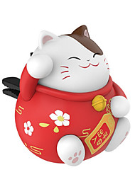 Недорогие -повезло кота на выходе из ароматерапии творческий автомобиль духи мультфильм кукла в дополнение к запаху украшения украшения