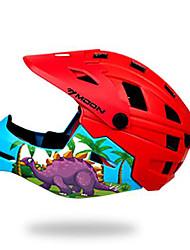 Недорогие -Детские Мотоциклетный шлем BMX Шлем 28 Вентиляционные клапаны прибыль на акцию ABS + PC Виды спорта На открытом воздухе Велосипедный спорт / Велоспорт - Зеленый Красный + синий Универсальные