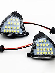 Недорогие -2 шт. / Компл. Светодиодные под боковым зеркалом свет лампы лужи для VW Jetta Golf 5 и т. Д.