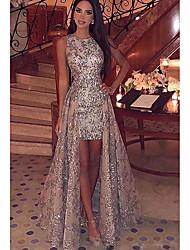 Недорогие -Жен. Элегантный стиль С летящей юбкой Платье - Геометрический принт, Пайетки Макси