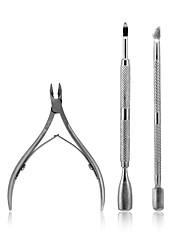 Недорогие -3шт ногтей кутикулы ложка толкатель клипер щипцы маникюр набор инструментов