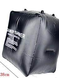 Недорогие -солнечный пакет для кемпинга на солнечной батарее, лагерный душ с подогревом на солнечной батарее портативный для наружного отдыха, армейский зеленый цвет, кемпинг, плавание, путешествия и походы