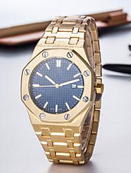 Недорогие -Муж. Нарядные часы Swiss Кварцевый Металл Черный / Серебристый металл / Золотистый 50 m Творчество Новый дизайн Повседневные часы Аналоговый Роскошь Элегантный стиль - Серый Синий Золотистый