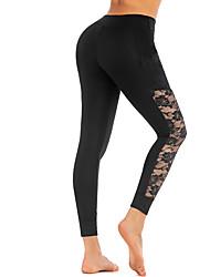 billige -Dame Yoga bukser Sport Elastin Tights Underdele Zumba Fitness Gym træning Sportstøj Blød Butt Lift Tynd