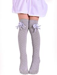 Недорогие -Дети Девочки Однотонный Сетка Белье / носки Черный