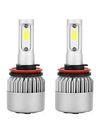 Недорогие -1 пара светодиодных фар h11 s2 4000lm / лампа 6500k, противотуманная фара белого цвета